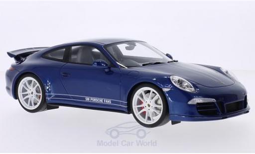 Porsche 991 4S 1/18 GT Spirit 911  Carrera metallise blue/white RHD 5M Fans diecast model cars