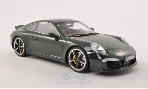 Porsche 991 SC 1/18 GT Spirit (991) Club Coupe dunkelgrün 2012 Türen und Hauben geschlossen miniature