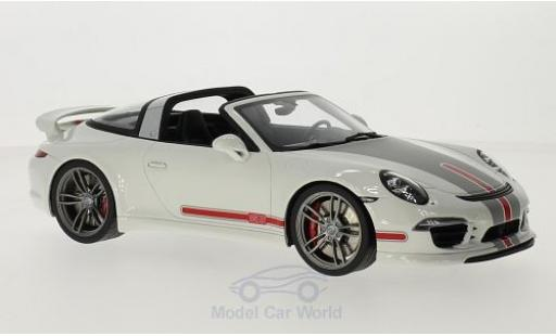 Porsche 991 Targa 1/18 GT Spirit 911  by Techart blanche/Dekor miniature