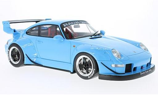 Porsche 993 RWB 1/12 GT Spirit 911  blue diecast model cars