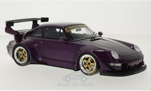 Porsche 993 RWB 1/18 GT Spirit 911  metallise porpora modellino in miniatura