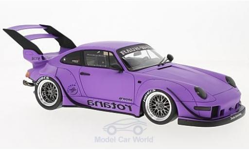 Porsche 993 RWB 1/18 GT Spirit 911  Rotana matt-lila miniature