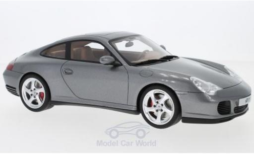 Porsche 996 4S 1/18 GT Spirit 911  Carrera metallise grise 2002 miniature