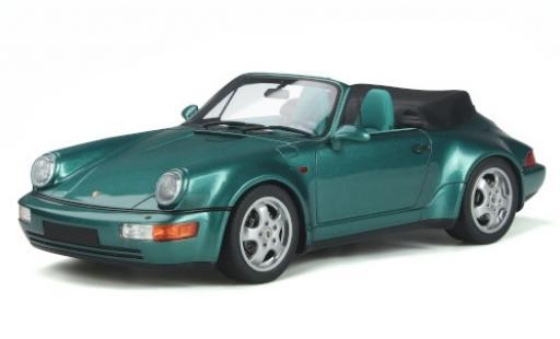 Porsche 964 Turbo 1/18 GT Spirit 911 Carrera 2 Cabriolet  metallise verte 1992 -Look miniature