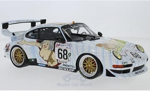 Porsche 996 GT2 1/18 GT Spirit 911 No.68 Elf Haberthur Racing 24h Le Mans 1998 E.Graham/H.Poulain/J-P.Maury-Laribiere diecast model cars