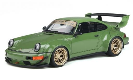 Porsche 911 1/18 GT Spirit RWB Body Kit verte miniature
