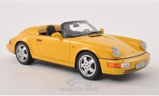 Porsche 964 Speedster 1/18 GT Spirit Speedster (964) jaune 1993 Türen und Hauben geschlossen miniature