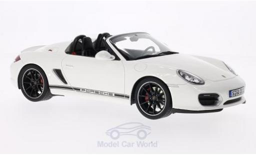 Porsche Boxster 1/18 GT Spirit Spyder blanche Türen und Hauben geschlossen ohne Vitrine miniature