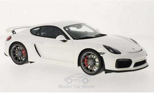 Porsche Cayman 1/18 GT Spirit GT4 blanche miniature