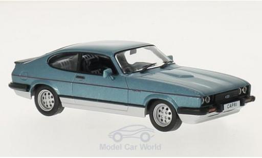 Ford Capri 1/43 GTI Collection MKIII 2.8 Injection metallise bleue/grise 1982 miniature