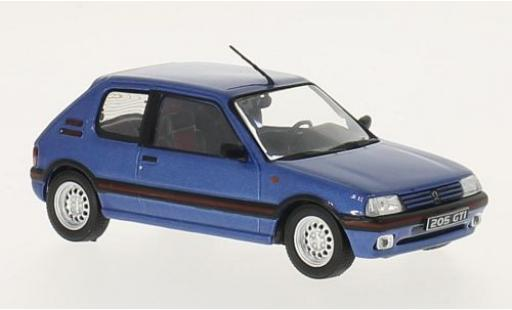 Peugeot 205 1/43 GTI Collection GTI metallise blue 1992 diecast model cars