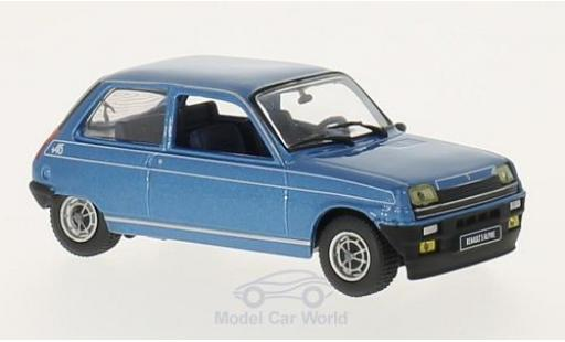 Renault 5 Alpine 1/43 GTI Collection metallise bleue 1976 miniature