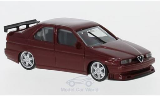 Alfa Romeo 155 1/87 Herpa Rennsport métallisé rouge miniature