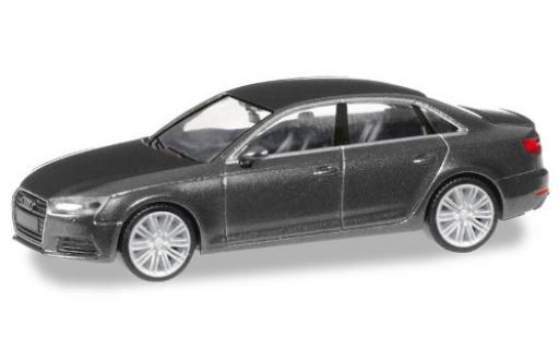 Audi A4 1/87 Herpa (B9) metallise gris coche miniatura