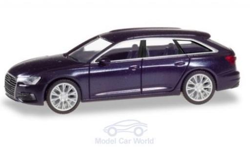 Audi A6 1/87 Herpa Avant metallise bleue miniature
