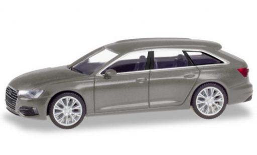 Audi A6 1/87 Herpa Avant metallise gris coche miniatura