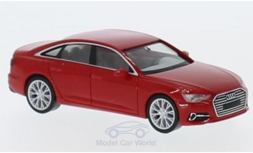 Audi A6 1/87 Herpa Limousine red diecast model cars