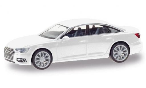 Audi A6 1/87 Herpa Limousine white diecast model cars