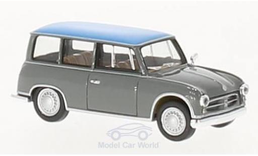AWZ P70 1/87 Herpa Kombi grise/bleue miniature