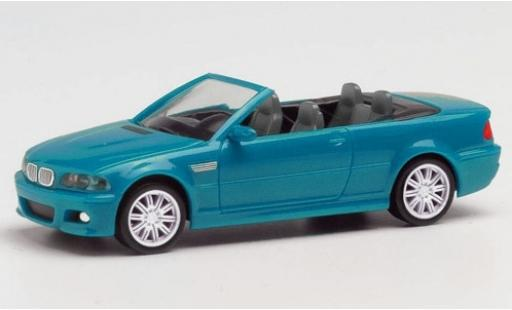 Bmw M3 1/87 Herpa (E46) Cabriolet blue diecast model cars