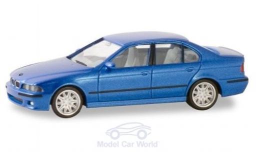 Bmw M5 1/87 Herpa (E34) metallise bleue miniature