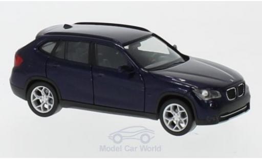 Bmw X1 1/87 Herpa metallise bleue miniature