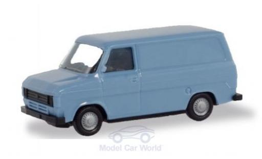 Ford Transit 1/87 Herpa Kasten bleue miniature