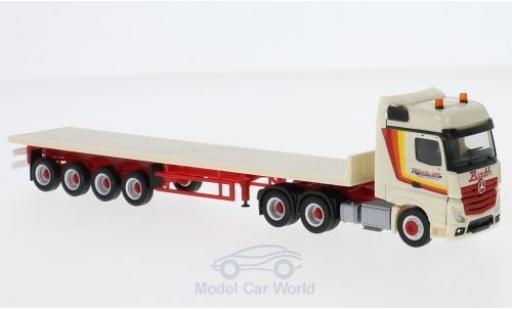 Mercedes Actros 1/87 Herpa Bigspace Barth & Sohn Flachbett-Sattelzug diecast model cars