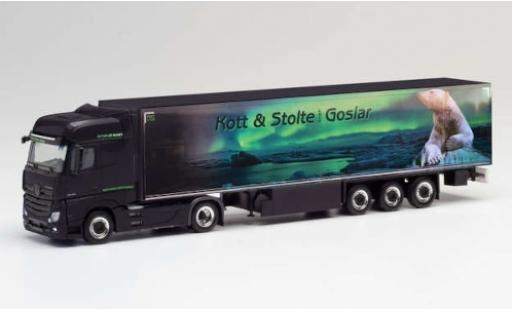 Mercedes Actros 1/87 Herpa BigSpace Kott & Stolte Goslar Remorque de boîte de réfrigération miniature