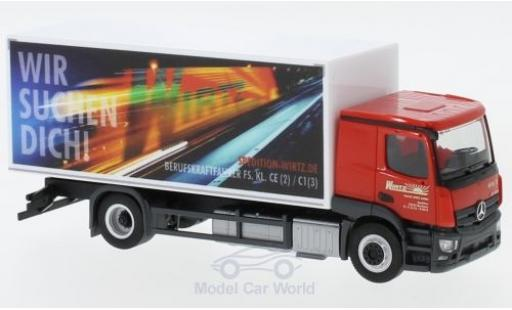 Mercedes CLA 1/87 Herpa Actros Classicspace Wirtz Kühlkoffer-LKW miniature