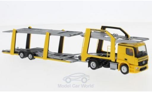 Mercedes Actros 1/87 Herpa Eurolohr Qualitrans Cargo (HU) Autotansporter miniature