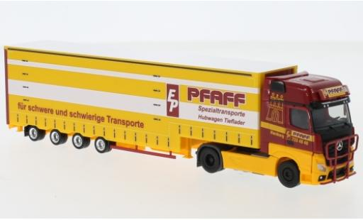 Mercedes Actros 1/87 Herpa Gigaspace Pfaff Volumen-Sattelzug Exclusive Series miniature