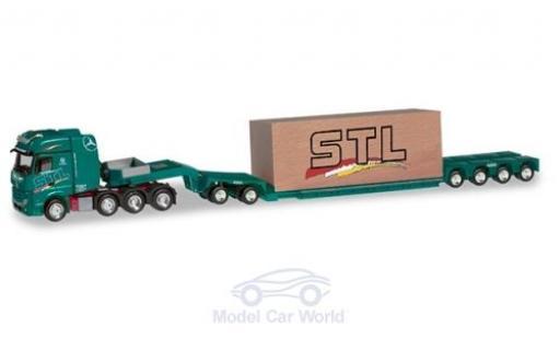 Mercedes Actros 1/87 Herpa SLT SLT Logistik Tieflade-Sattelzug mit Ladung miniature