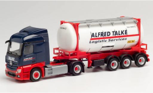 Mercedes Actros 1/87 Herpa Streamspace 2.3 Alfred Talke 2018 Swapcontainersattelzug coche miniatura