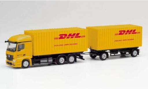 Mercedes Actros 1/87 Herpa StreamSpace 2.3 DHL 2018 Cargoboxenhängerzug diecast model cars