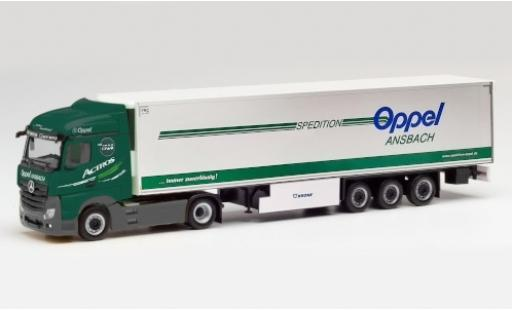 Mercedes Actros 1/87 Herpa StreamSpace 2.5 Oppel Ansbach Tracteur Case coche miniatura