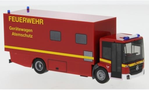 Mercedes Econic 1/87 Herpa Feuerwehr Gerätewagen Atemschutz wagon conteneur-Truck miniature