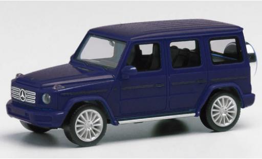 Mercedes Classe G 1/87 Herpa metallise bleue avec AMG-jantes miniature