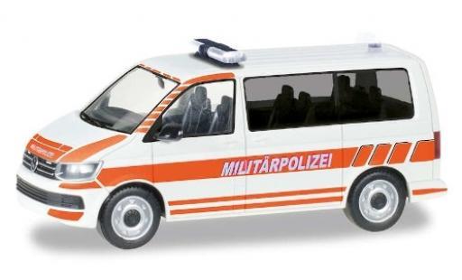 Volkswagen T6 1/87 Herpa Military Bus Militärpolizei Schweiz miniatura