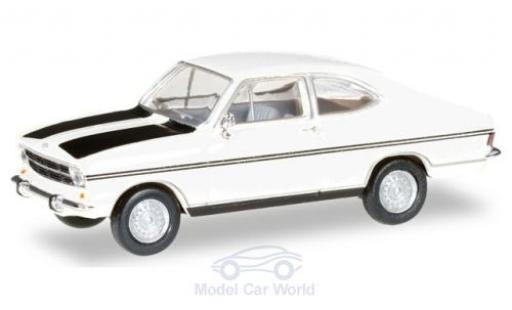 Opel Kadett 1/87 Herpa B Coupe Rally blanche/noire miniature