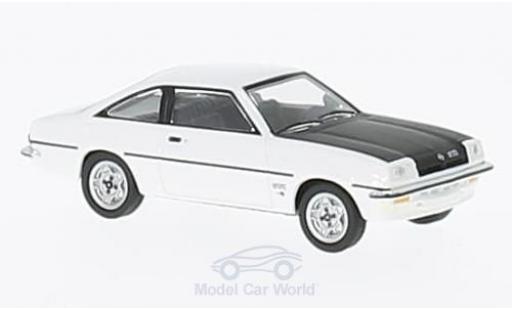 Opel Manta B 1/87 Herpa GT/E blanche/noire miniature
