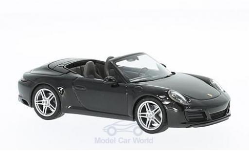 Porsche 991 SC 1/43 Herpa 911 (/2) Carrera Cabrio metallise black diecast model cars