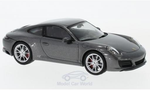 Porsche 991 S 1/43 Herpa 911 (/2) Carrera metallise grey diecast model cars