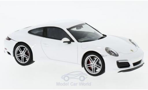 Porsche 991 SC 1/43 Herpa 911 (/2) Carrera white diecast model cars