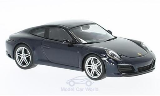 Porsche 991 SC 1/43 Herpa 911  Carrera 4 Coupe metallise bleue miniature