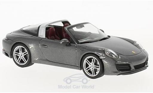 Porsche 991 Targa 1/43 Herpa 911  4 metallise grey diecast model cars