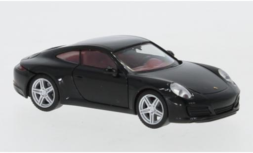 Porsche 992 1/87 Herpa 911 Carrera 4  noire miniature