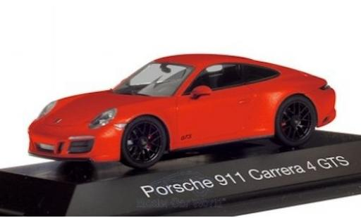 Porsche 911 1/43 Herpa Carrera 4 GTS (992) orange miniature