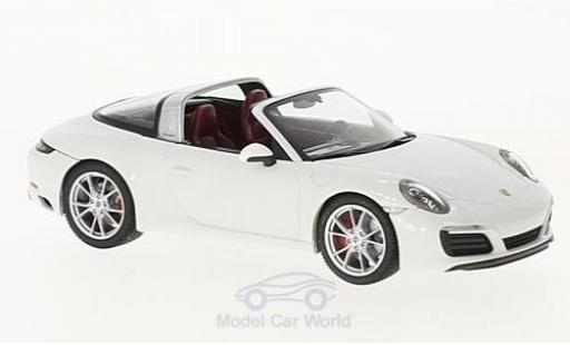 Porsche 911 Targa 1/43 Herpa 4S white diecast model cars