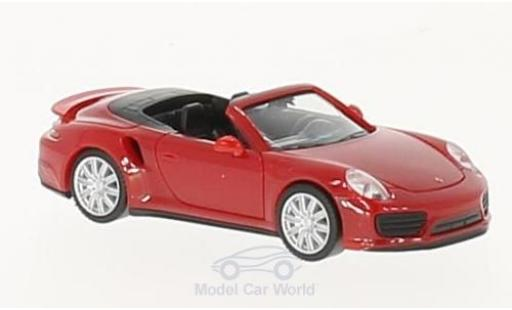 Porsche 911 Turbo 1/87 Herpa Cabrio rouge miniature